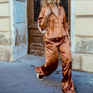 Zara satin pajama set NWT *sold out online!!